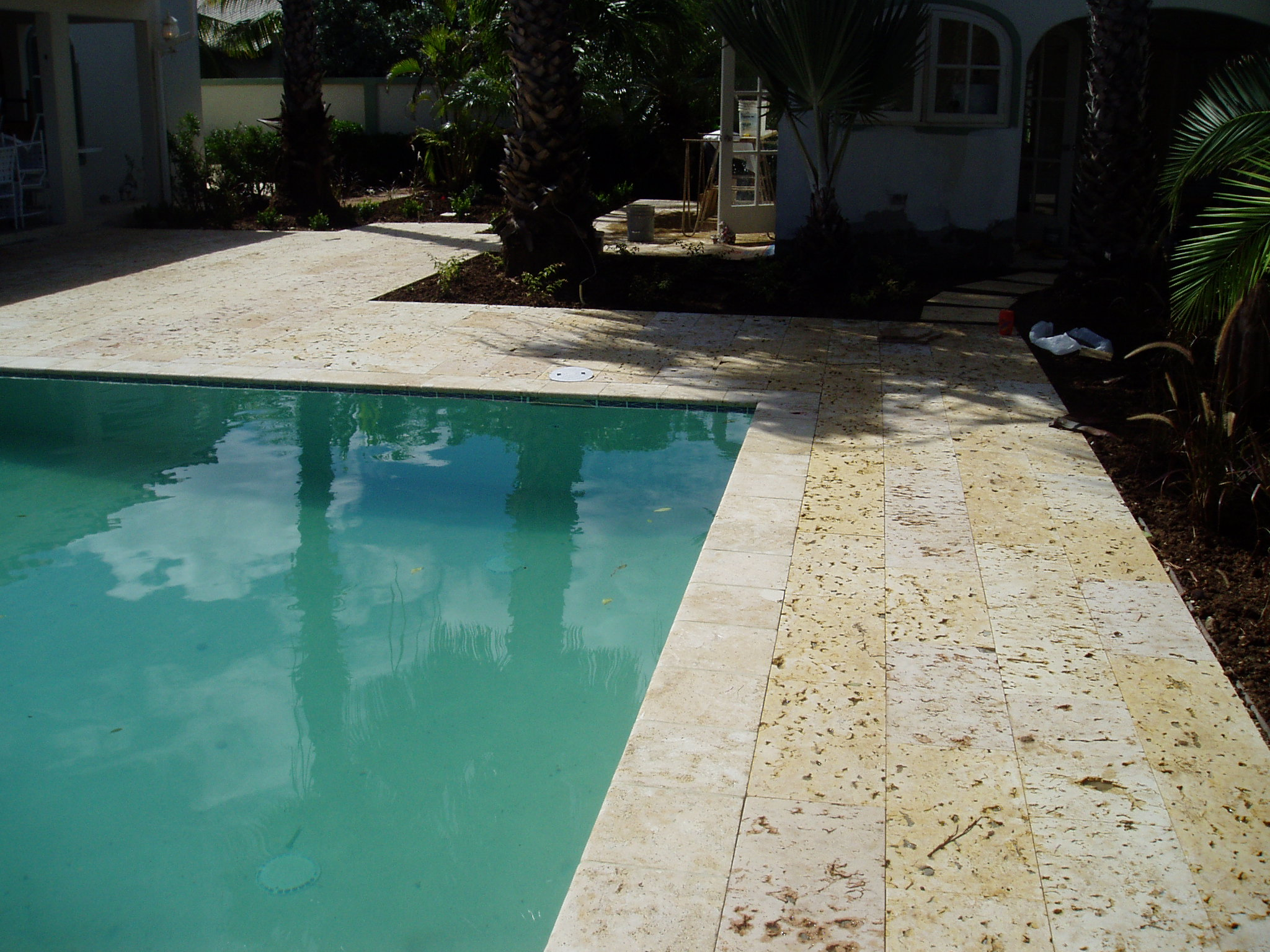 Natural Stone Pool Deck Entrancing Coralina Stone Pooldeck  The Natural Stones Aruba