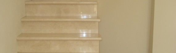 Cover wooden stair with Marble
