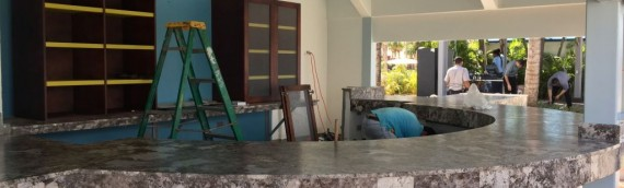 Granite counter top at Wave Bar
