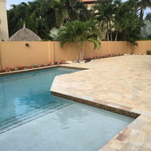 Brazilian flagstone pool deck Gold Coast