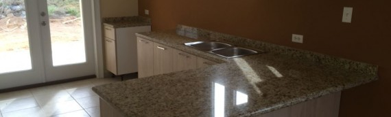 Granite kitchen counter top Brazil oro at Monte Verde